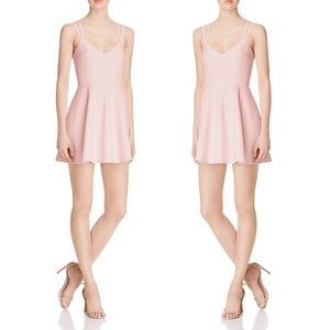 French connection whisper blush pink strappy dress